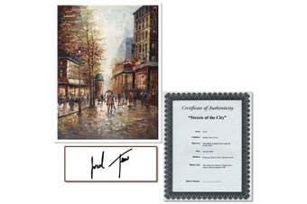 "Trademark Fine Art ""French Street Scene I"" Canvas Art by Joval, 24x32"