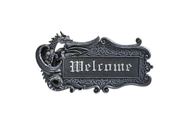 Design Toscano Dragon Welcome Wall Plaque
