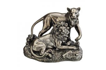Design Toscano Lion and Lioness: Pride of Place Animal Statue