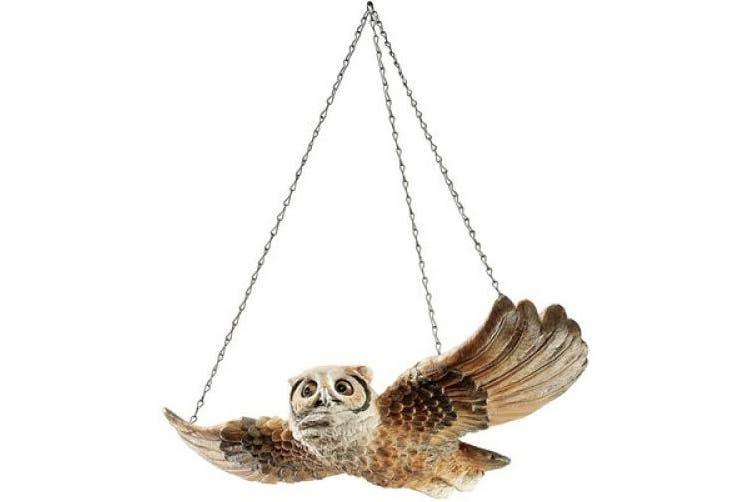 Design Toscano The Garden Owl Hanging Sculpture