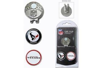(Houston Texans) - Team Golf NFL Houston Texans Cap Clip With 2 Golf Ball Markers
