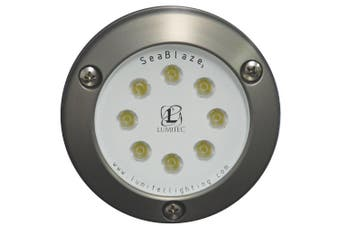(White) - Lumitec SeaBlaze3 LED Underwater Boat Light, Surface Mount, Non-Dimmable