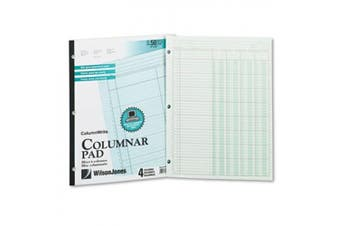 (lettersize-four8-unitcolum) - Accounting Pad, Four Eight-Unit Columns, Two-sided, Letter, 50-Sheet Pad