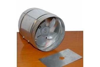 Acme Miami 9008 20.3cm . Duct Booster - 380 CFM - Silver