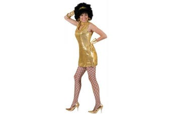 (s(6-8)) - Costumes For All Occasions FF782756 Disco Dress Gold Adult Small