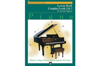 Alfred 00-6214 Basic Piano Course- Lesson Book Complete 2& 3 - Music Book