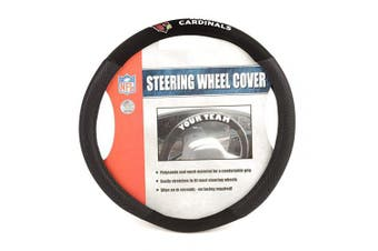 (Arizona Cardinals) - Fremont Die 98522 Arizona Cardinals- Poly-Suede Steering Wheel Cover