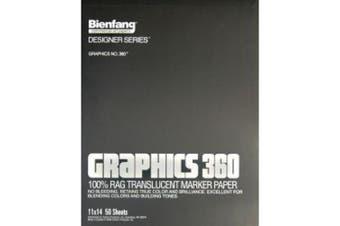 (28cm  by 36cm , 50 Sheets) - Bienfang Graphics 28cm by 36cm 360 Paper Pad, 50 Sheets