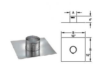 Chimney 68253 5.5 in. DuraFlex Collrplate with band