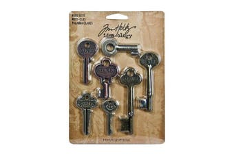 Idea-Ology Metal Word Keys 3.8cm To 7.6cm 7/Pkg