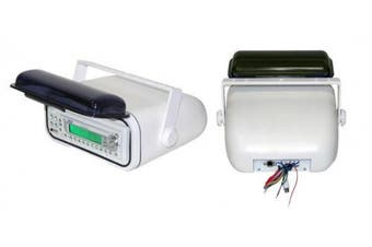 (Standard Packaging, White) - Water Resistant Stereo Housing w/ Chassis Casing