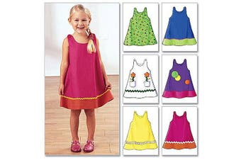 (1-2-3) - Butterick Pattern Toddler's and Children's Dress, (1, 2, 3)