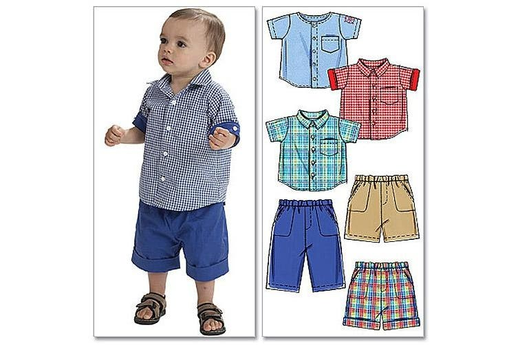 McCall's Patterns M6016 Infants' Shirts, Shorts And Pants, All Sizes