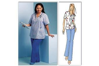(WOMAN (XXL-1X-2X-3X-4X-5X-6X)) - Butterick Pattern Misses' and Women's Top and Pants, Women (XXL, 1X, 2X, 3X, 4X, 5X, 6X)