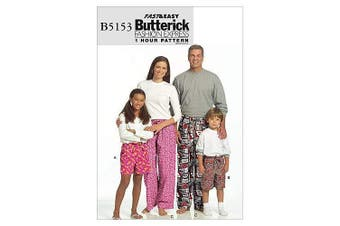 (KID [(3-4) (5-6) (7-8) (10-12) (14-16)]) - Butterick Pattern Misses', Men's, Children's, Boys' and Girls' Shorts and Pants, Kids