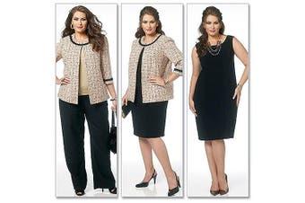 (RR (18W-20W-22W-24W)) - Butterick Pattern Misses' and Women's Jacket, Dress, Skirt and Pants, RR (18W, 20W, 22W, 24W)