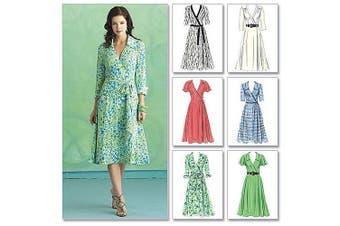 (BB (8-10-12-14)) - Butterick Pattern Misses' Dress, Belt and Sash, BB (8, 10, 12, 14)