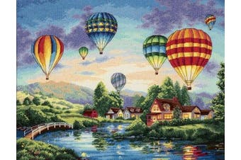 """(Balloon Glow) - Dimensions Gold Collection """"Balloon Glow"""" Counted Cross Stitch Kit, 41cm x 30cm"""