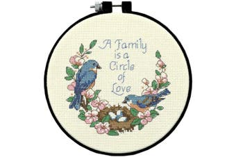 Dimensions/Learn-A-Craft Counted Cross Stitch Kit 15cm Round