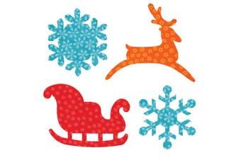 (Sleigh & Snowflakes) - Go! Fabric Cutting Dies, Sleigh & Snowflakes