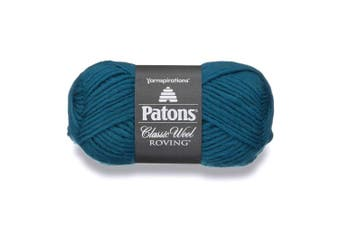 (Pacific Teal) - Patons Classic Wool Roving Yarn, 100ml, Pacific Teal, 1 Ball