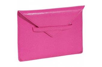 Budd Leather 552209L-25 Lizard Print 10cm X 15cm Photo Envelope - Pink