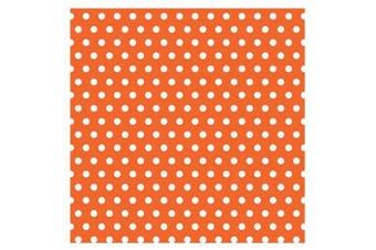 (One Size, As Shown) - Amscan 220992 Orange with Polka Dot Jumbo Gift Wrap