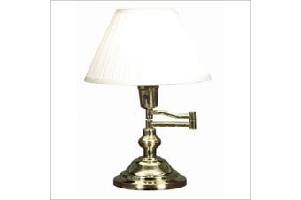 (Brass) - Kenroy Home 30163 Classic Swing Arm Desk Lamp, Polished Brass