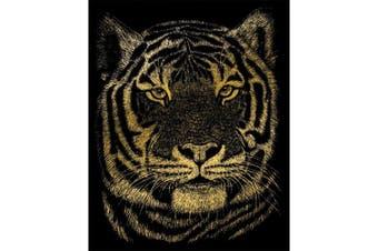 (Tiger) - Gold Foil Engraving Art Kit 20cm x 25cm