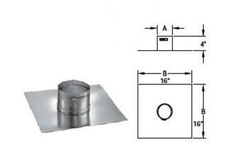 Chimney 68252 5 in. DuraFlex Collarplate with band