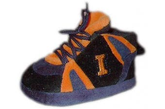 (Illinois Fighting Illini) - Happy Feet and Comfy Feet OFFICIALLY licenced NCAA College Baby Slippers - UP TO 9 MONTHS