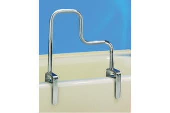 (TRI GRIP) - Carex Tri-Grip Bathtub Rail with Chrome Finish - Bathtub Grab Bar Safety Bar For Seniors and Handicap - For Assistance Getting In and Out of Tub, Easy to Instal on Most Tubs