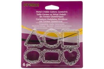 Polyform 481531 Premo Metal Crinkle Cutters 6-Pkg