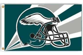 (0.9m x 1.5m, Philadelphia Eagles) - 0.9m x 1.5m Polyester Philadelphia Eagles Flag