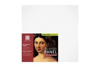 "(30cm  x 30cm , 3/8"" Flat) - Ampersand Art Supply Canvas Texture Artist Panel 3/8 Flat Profile, 30cm x 30cm"