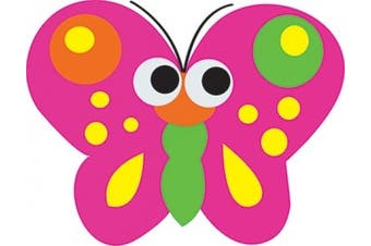 (Butterfly) - Ashley Productions ASH10008 Magnetic Whiteboard Butterfly Erasers