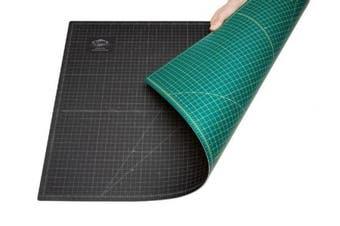 (18L x 12W inches) - Alvin Professional Self-Healing Cutting Mat, 30cm x 46cm , Green/Black (GBM1218)