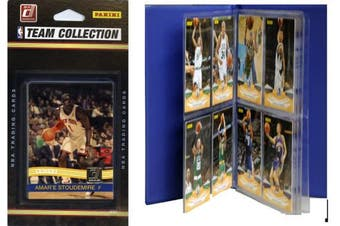 C & I Collectables 2010KNICKSTS NBA New York Knicks Licenced 2010-11 Donruss Team Set Plus Storage Album