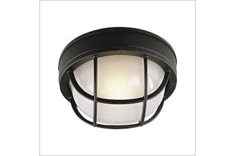 (Matte Black) - Craftmade Z394-05 Marine Lights with Frosted Halophane Glass Shades, Black