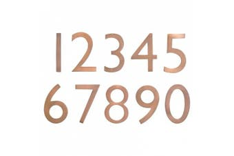 (Antique Copper) - Architectural Mailboxes 3585AC-5 Solid Cast Brass 5 in. Antique Copper Floating House Number 5