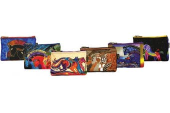 (horsedesigns) - Canvas Corp Cosmetic Bag Zipper Top Assortment, 9 by 2.5cm by 15cm , Horse Designs (Styles may Vary)