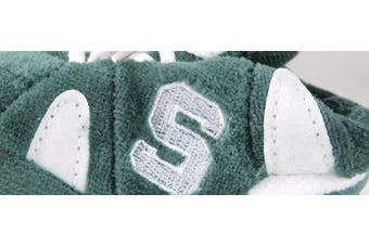 (Michigan State Spartans) - Happy Feet and Comfy Feet OFFICIALLY licenced NCAA College Baby Slippers - UP TO 9 MONTHS