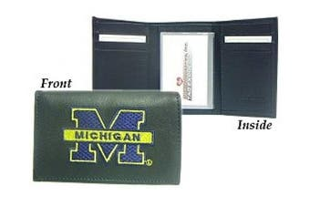 (Michigan Wolverines) - NCAA - Men's Michigan Wolverines Embroidered Trifold Wallet
