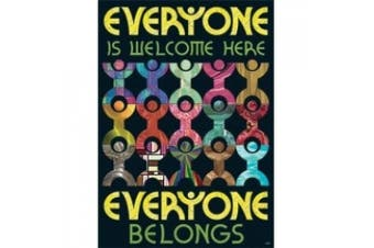 Trend Enterprises T-A67341 Everyone Is Welcome Here Everyone- Belongs Argus Large Poster