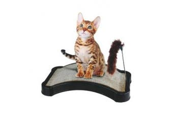 Kitty Scratcher with Play Tail Toy and Cat Nip