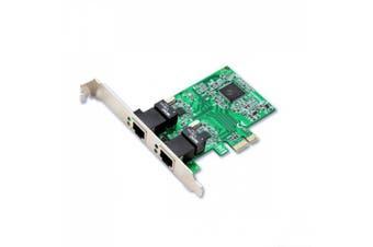 (2-port, SD-PEX24033) - Syba Dual LAN Ports 1000-Base T Gigabit Ethernet Card Realtek Chipset (SD-PEX24033)