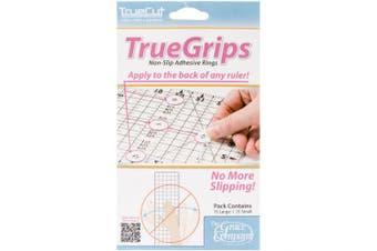 (1) - Grace Company 87644 TrueCut Non Slip Ruler Grips-Transparent 15-Pkg