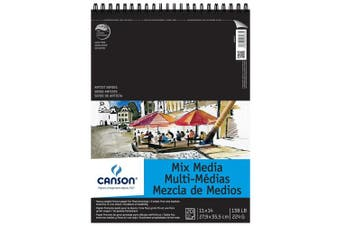 Canson C200006187 28cm . x 36cm . Artist Series Mixed Media Wire Bound Pad - 20 Sheet