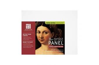 "(20cm  x 25cm , 1-1/2"" Cradled) - Value Canvas Texture Wood Painting Panel by Ampersand 2.5cm - 1.3cm Cradled Profile 20cm x 25cm"