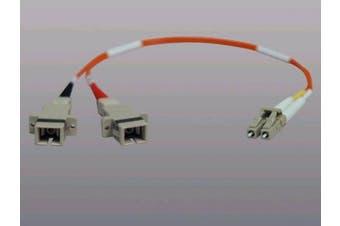 Tripp Lite N458-001-62 Duplex Multimode 62.5/125 Fibre Adapter, LC-M/SC-F - 0.3m